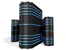 2 черных сервера Стоковые Фотографии RF
