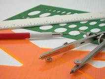 2 чертегного инструмента Стоковые Изображения RF