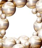2 шарика обрамляют золотистое Стоковые Изображения RF