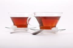 2 шикарных чашки черного чая Стоковое Изображение RF