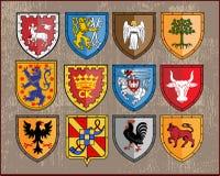 2 экрана элементов heraldic Стоковая Фотография RF