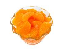 2 этапа померанца мандарина еды стоковое фото