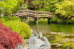 2 японца сада моста Стоковые Фотографии RF