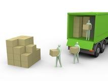 2货物卡车 免版税库存图片