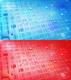 2 in 1 high-tech background. High-tech electronic circuits background for your text Royalty Free Stock Photography