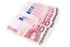 2 10 euros Arkivfoton