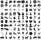 2 100个图标集 免版税库存照片