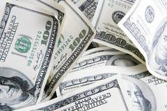 2 100 счета закрывают доллар вверх Стоковые Фото
