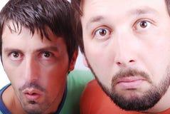 2 удивленный человек Стоковые Фотографии RF