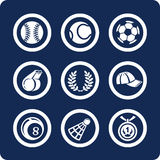 2 11 иконы разделяют установленный спорт Стоковые Фото