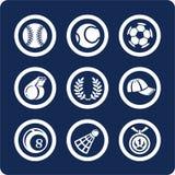 2 11 symboler part den set sporten Arkivfoton