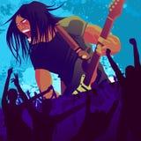 2吉他弹奏者 库存图片