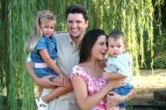 влюбленность 2 семей Стоковые Изображения
