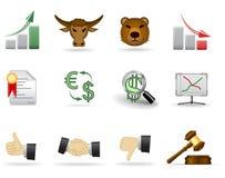 2个财务图标零件 免版税图库摄影