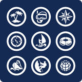 2 13 иконы разделяют каникулу перемещения комплекта Стоковые Изображения RF