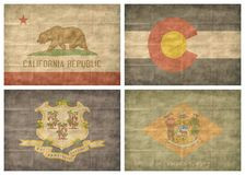 2/13 US state flags Royalty Free Stock Photography