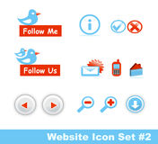 2个图标零件集合时髦的网站 免版税库存图片