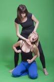 воевать 2 женщин Стоковая Фотография RF