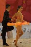 2 14 15场比赛开放舞蹈的拉丁 免版税库存图片
