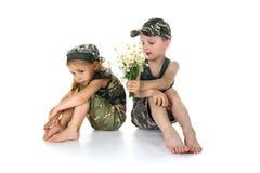 воины 2 цветков маленькие Стоковые Фотографии RF