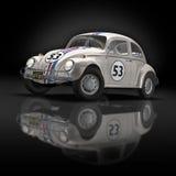 гонка 2 автомобилей старая Стоковые Фото