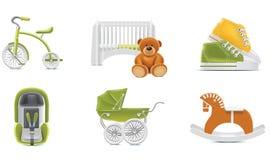 2个婴孩图标零件向量 免版税库存照片