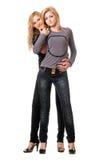 изолированные сексуальные 2 женщины молодой Стоковые Фотографии RF