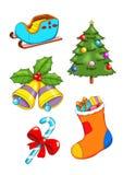 2 σύνολο Χριστουγέννων Στοκ εικόνες με δικαίωμα ελεύθερης χρήσης