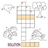 2个纵横填字谜孩子分开难题 库存图片