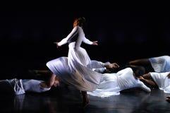 2个舞蹈现代性能 免版税库存图片