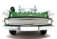 2 1961年汽车fisheye frontview德国kapit n opel警察称 库存图片
