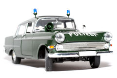 2 1961 scale för polis för opel för kapit n för bil tyska Arkivfoto