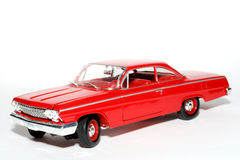 2 1962年belair汽车薛佛列汽车金属缩放比例玩具 图库摄影