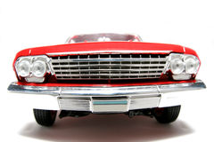 2 1962年belair汽车薛佛列汽车fisheye frontview金属缩放比例玩具 免版税库存图片