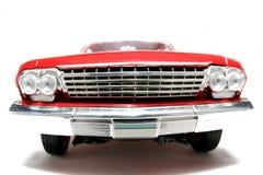 2 1962 toy för scale för metall för frontview för belairbilchevrolet fisheye Royaltyfria Bilder