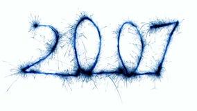2 2007年闪烁发光物 库存图片