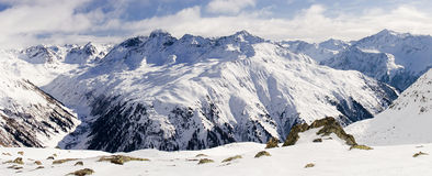 2 2007年阿尔卑斯klosters madrisa视图 库存图片