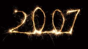 2 2007 sparkler Στοκ Φωτογραφίες