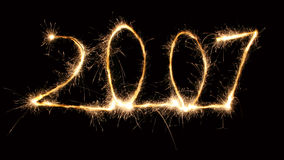 2 2007 sparkler Arkivfoton
