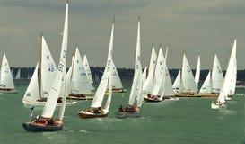 2 2010年cowes充气救生艇赛跑的星期 免版税库存照片