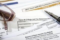 2 2011 формируют зарплату w тягла заявления Стоковое Изображение RF