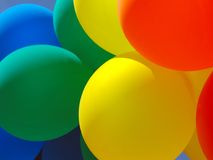 2个气球拼贴画 免版税库存图片