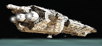 орбита крейсера сражения 2 низкая Стоковые Фотографии RF