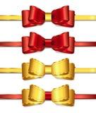 2条弓丝带 免版税图库摄影