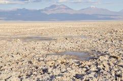 2阿塔卡马沙漠平面的盐 免版税库存照片