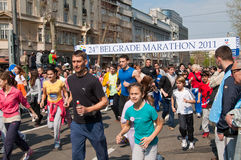 2 24th бега марафона потехи belgrade Стоковые Изображения