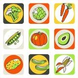 2 λαχανικά εικονιδίων Στοκ Φωτογραφίες