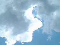 2朵云彩天空 图库摄影