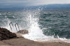 2风大浪急的海面 免版税图库摄影