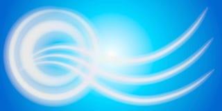 波浪2条抽象圈子的线路 免版税库存图片